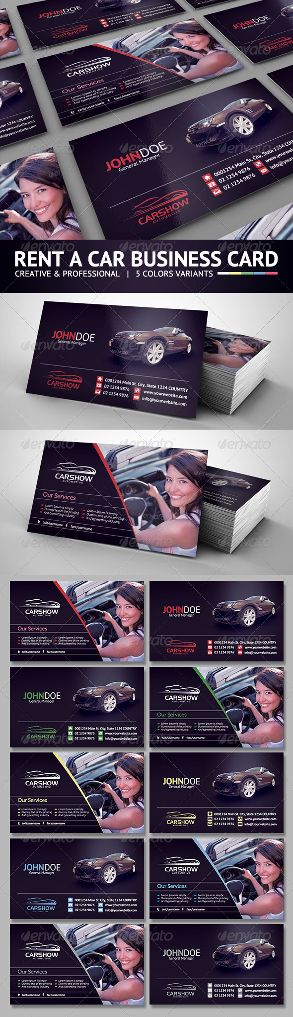 Rent a car business card by hsynkyc graphicriver rent a car business card industry specific business cards magicingreecefo Gallery