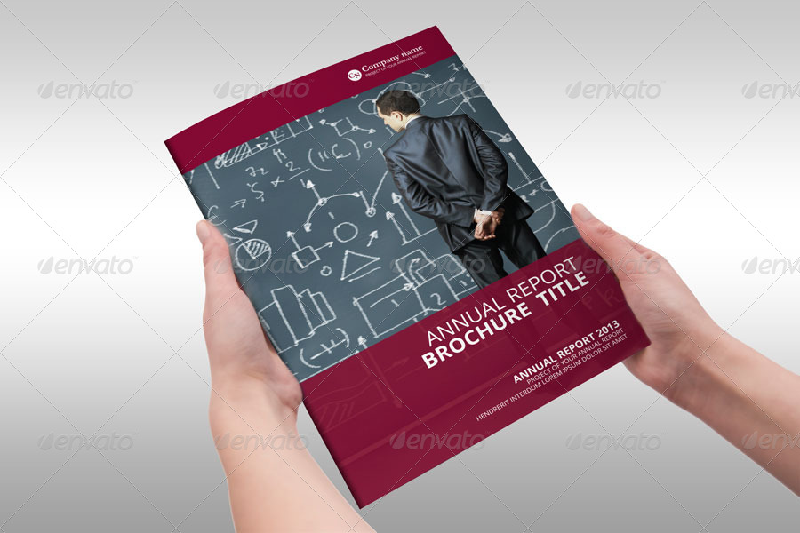 Red Annual Report Brochure Indesign Template By Braxas  Graphicriver