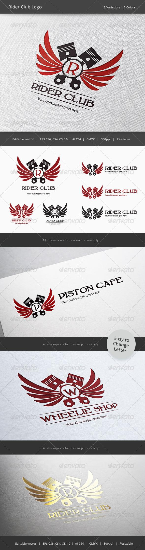 Rider Driver Club Crest Logo - Crests Logo Templates
