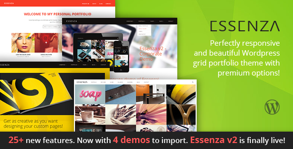 Essenza – Responsive Multi-purpose Grid Portfolio Theme