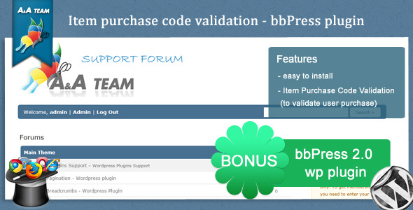 Item Purchase Code Validation - bbPress Plugin - CodeCanyon Item for Sale