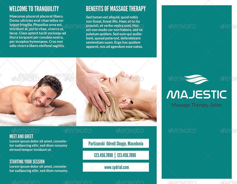Spa & Massage Salon Trifold Brochure By Simplicity88 | Graphicriver