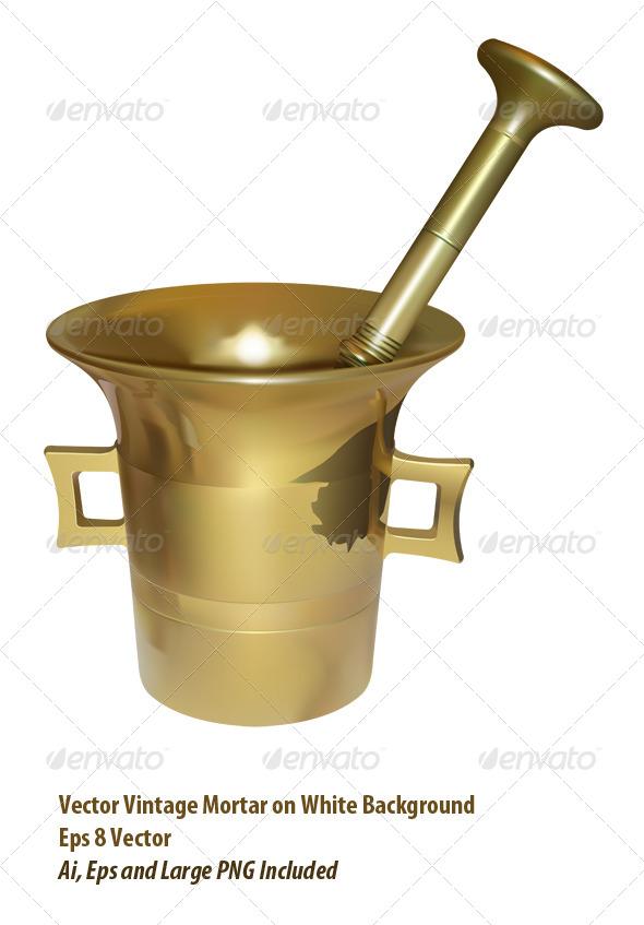 Mortar - Objects Vectors