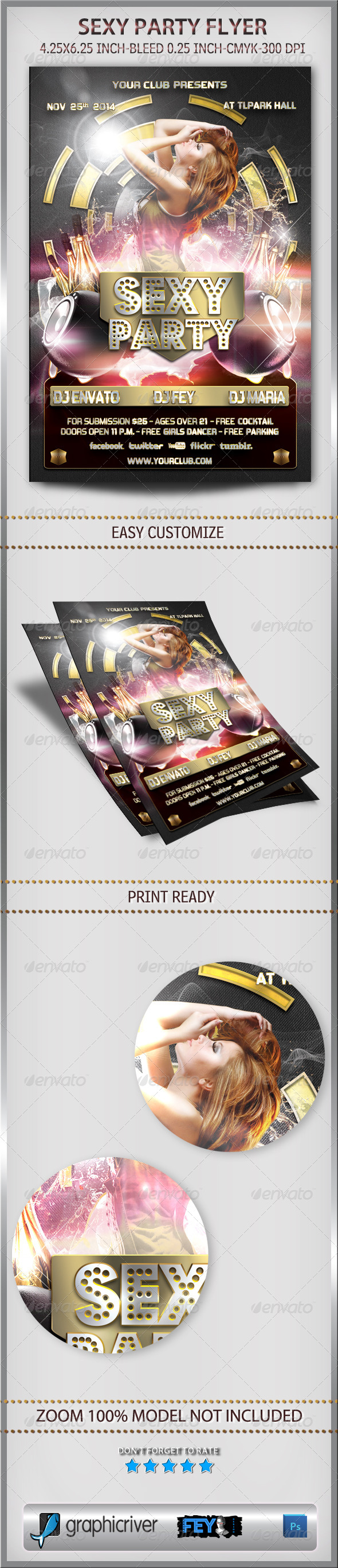 Sexy Party Flyer - Events Flyers