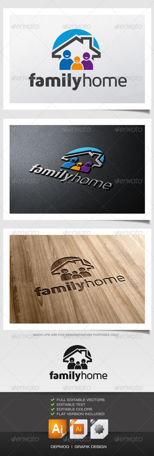 Family Home Logo - Symbols Logo Templates