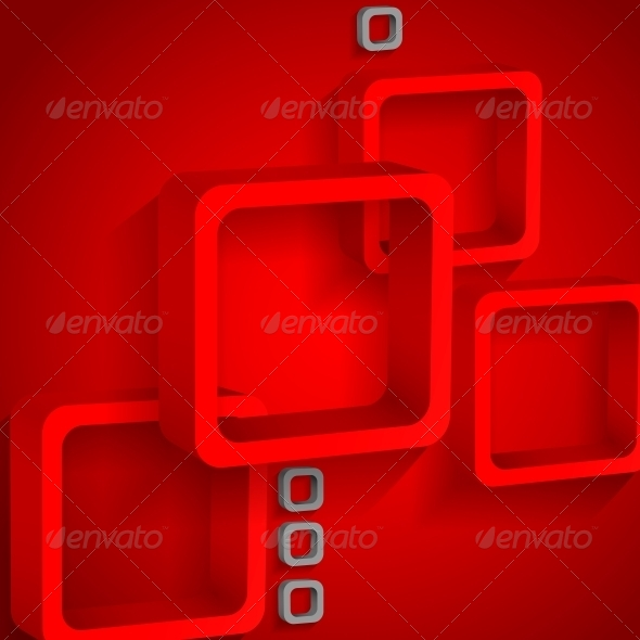 Red Squares Background - Backgrounds Decorative