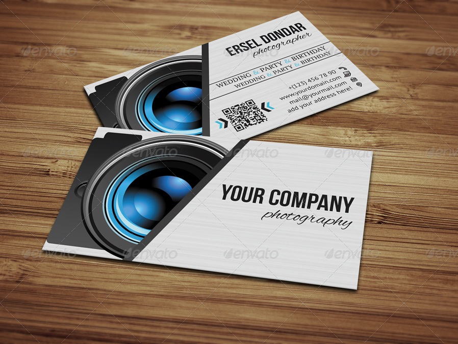 Photographer Business Card v2 by erseldondar | GraphicRiver
