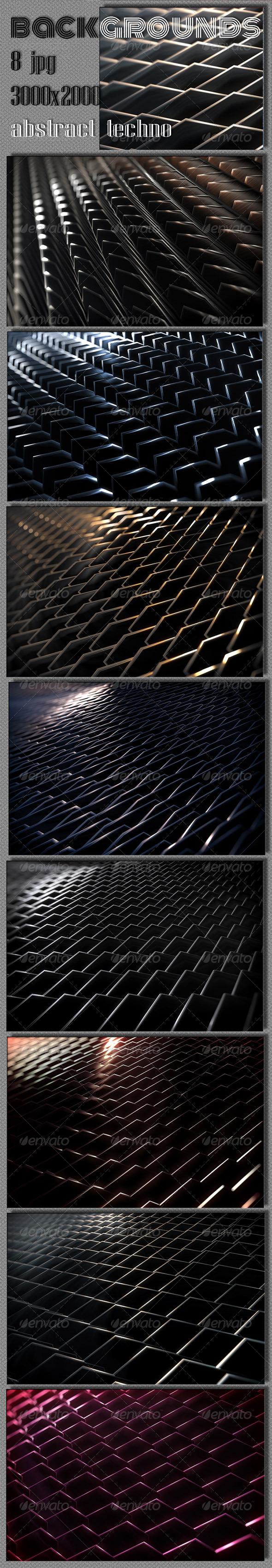 Techno 3D Backgrounds  - Tech / Futuristic Backgrounds