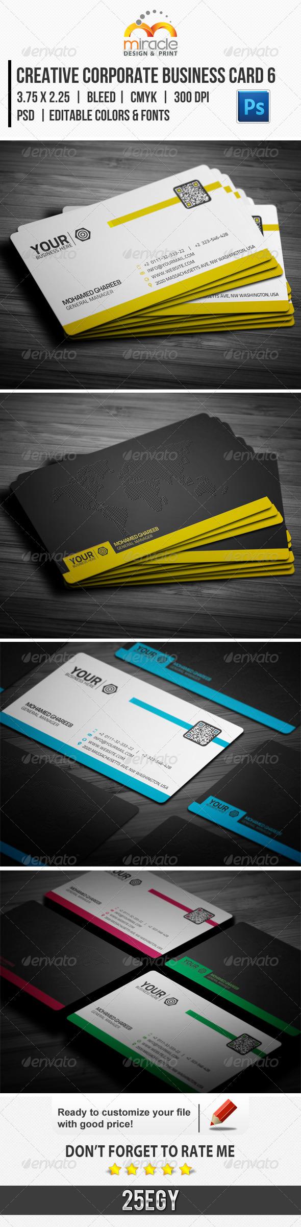 Creative Corporate Business Card 6 - Corporate Business Cards