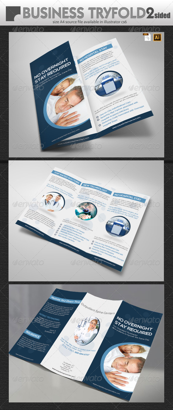 Universal Business Tri-Fold - Brochures Print Templates