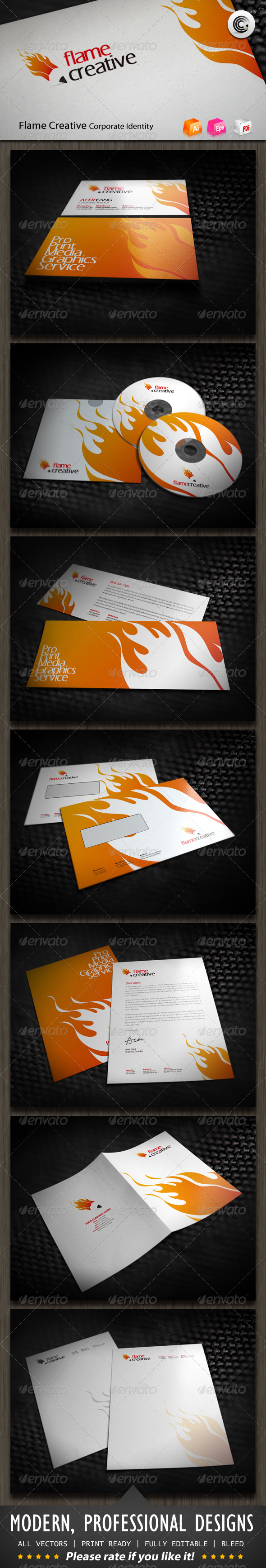 Flame Creative Corporate Identity - Stationery Print Templates