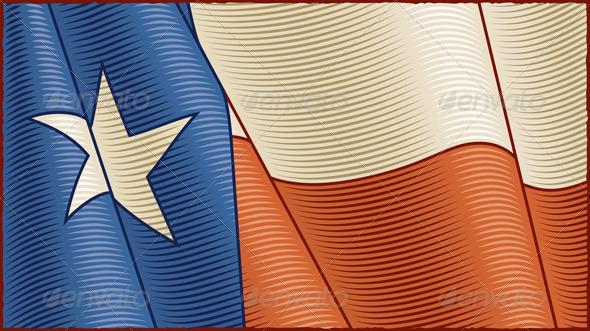 Vintage Texas Flag Background - Backgrounds Decorative