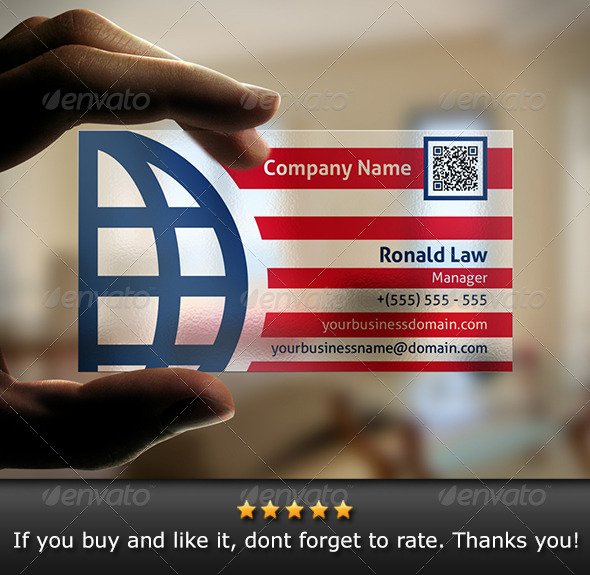 Transparent Global Business Card - Corporate Business Cards