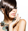Fashion Glamour Beauty Girl With Stylish Hairstyle and Makeup - PhotoDune Item for Sale