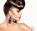 Fashion Model Girl Portrait. Creative Hairstyle - PhotoDune Item for Sale