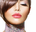 Hairstyle. Beauty Model Girl Portrait with Perfect Makeup - PhotoDune Item for Sale