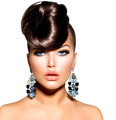 Fashion Model Girl Portrait with Blue Eyes. Creative Hairstyle - PhotoDune Item for Sale