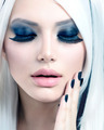 Beauty Fashion Girl black and white style. Smoky Eyes Makeup - PhotoDune Item for Sale