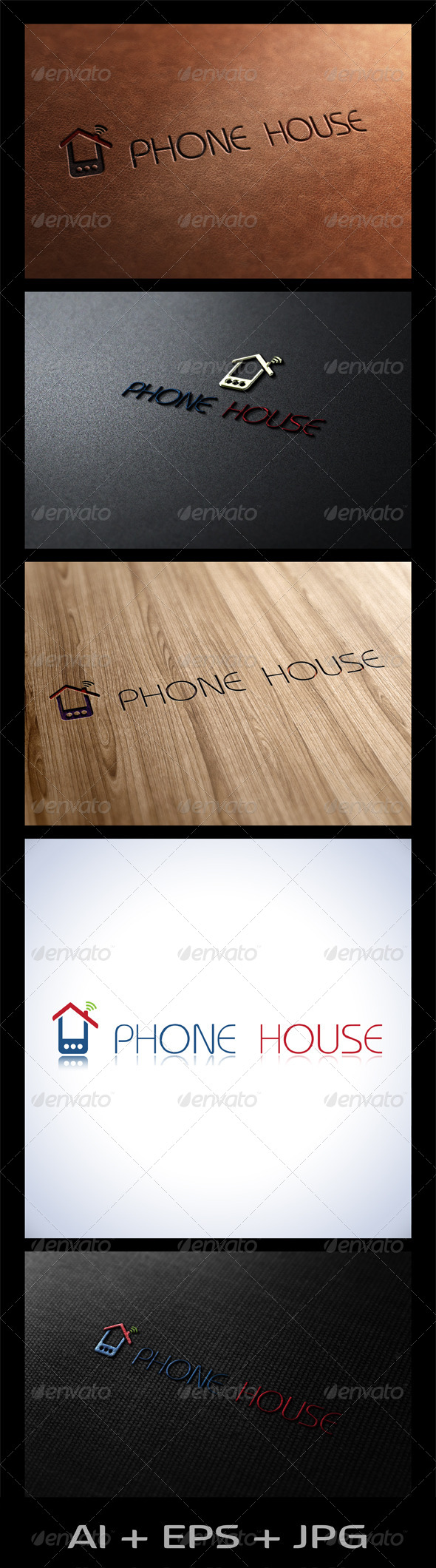 Phone House - Objects Logo Templates