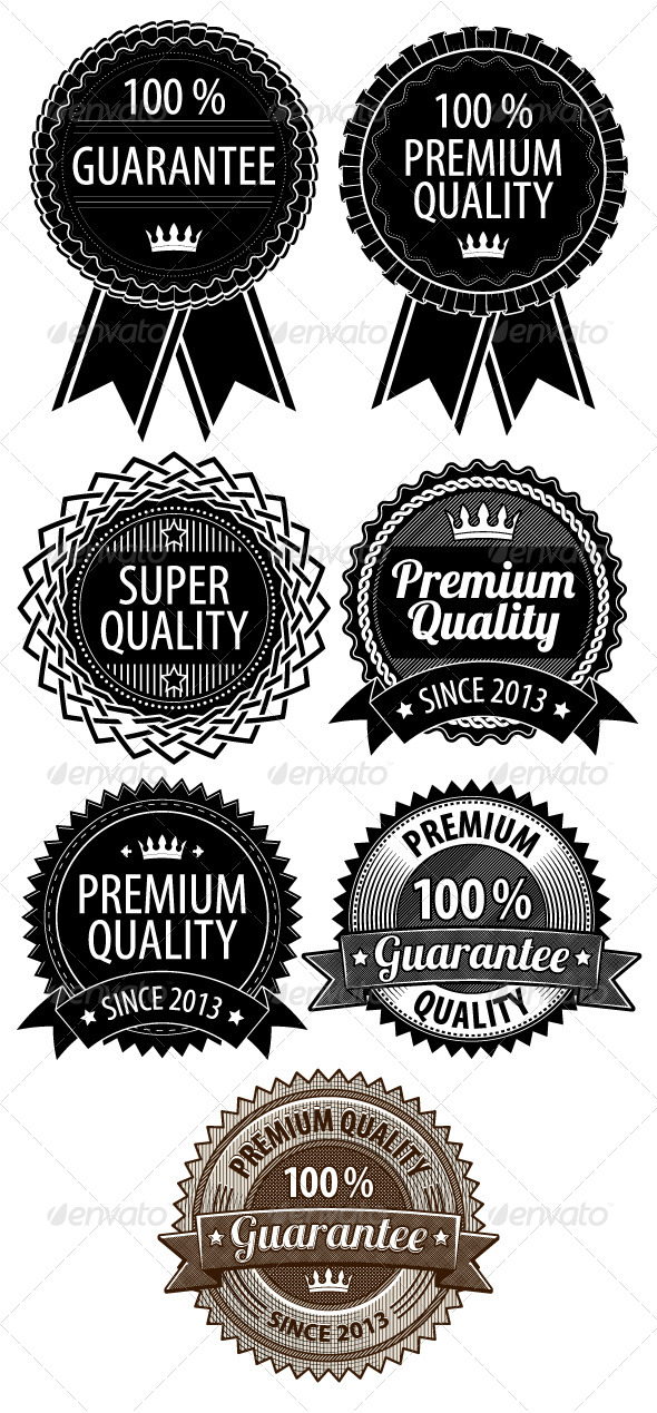Retro Vintage Badges - Borders Decorative