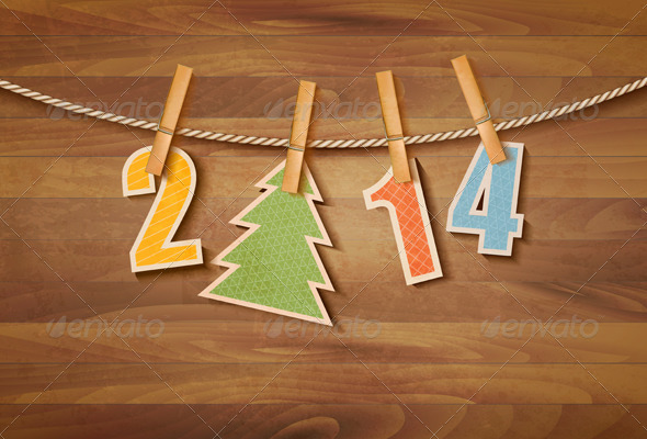 Happy New Year background. Vector  - New Year Seasons/Holidays
