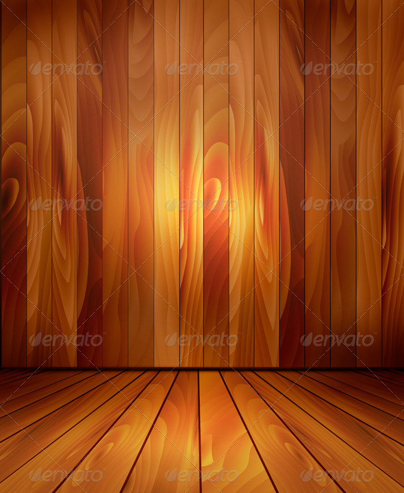 Background with Wooden Wall and a Wooden Floor - Backgrounds Decorative