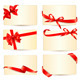 Set of Gift Cards with Red Gift Bows - GraphicRiver Item for Sale