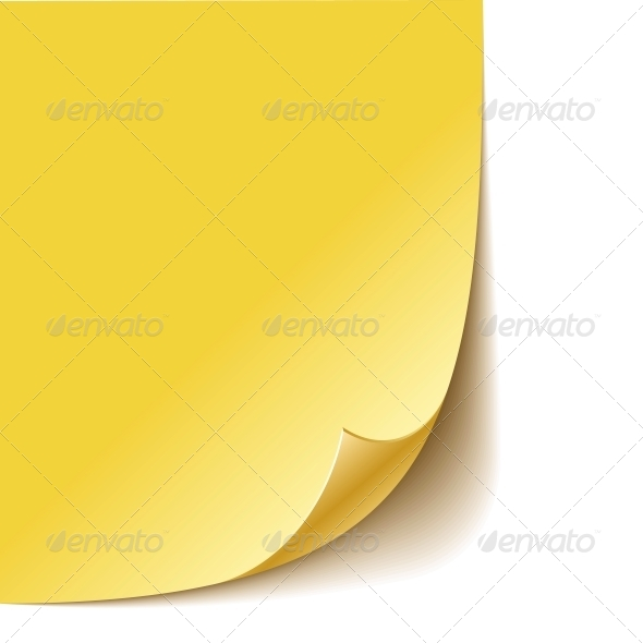 Empty Paper Corner - Miscellaneous Vectors