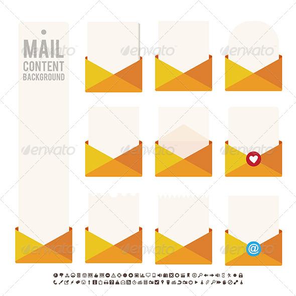 Mail Content Background - Decorative Symbols Decorative
