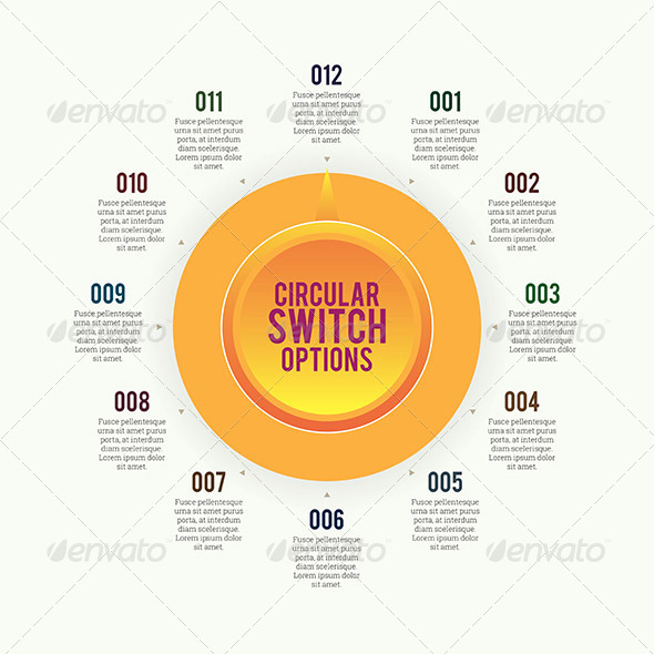 Circular Switch Options - Decorative Symbols Decorative