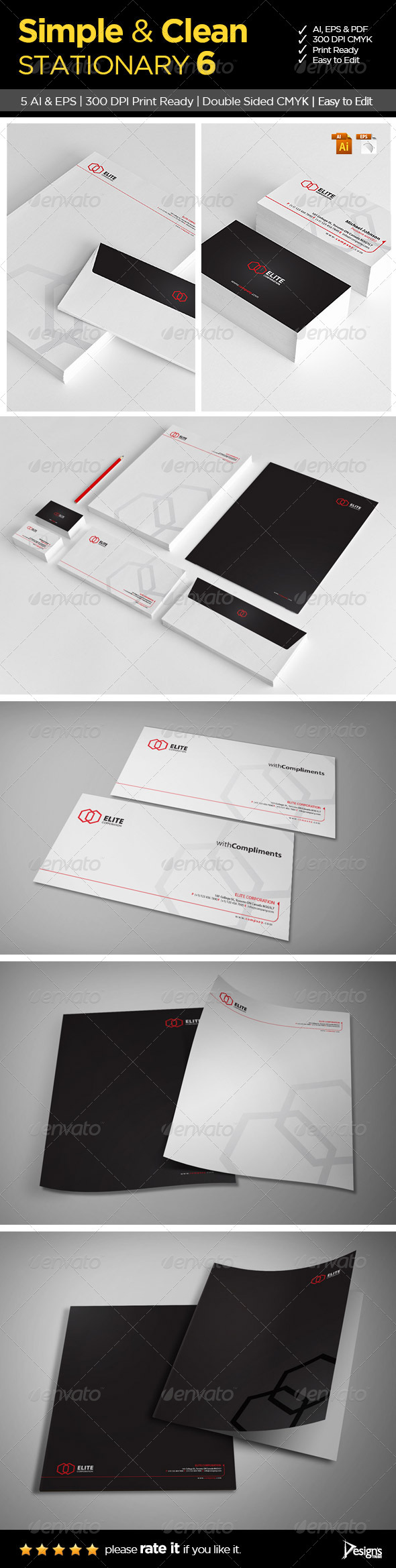 Simple and Clean Stationary 6 - Stationery Print Templates