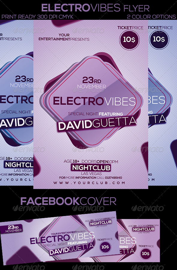 Electro Vibes Flyer - Clubs & Parties Events