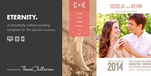 Eternity – Responsive Wedding Template