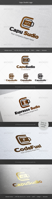 Coffee developer Studio Logo - Objects Logo Templates
