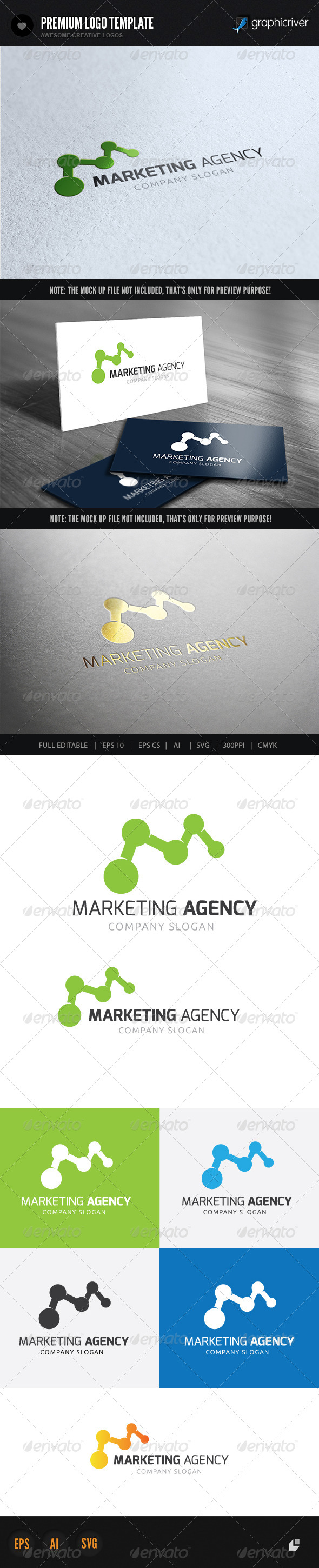 Marketing Agency - Letters Logo Templates