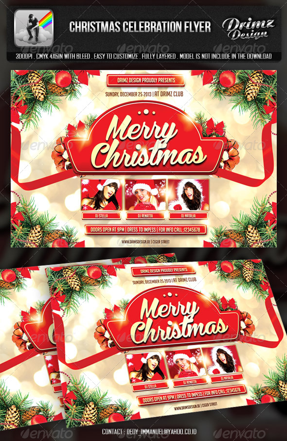 Christmas Celebration Flyer - Events Flyers