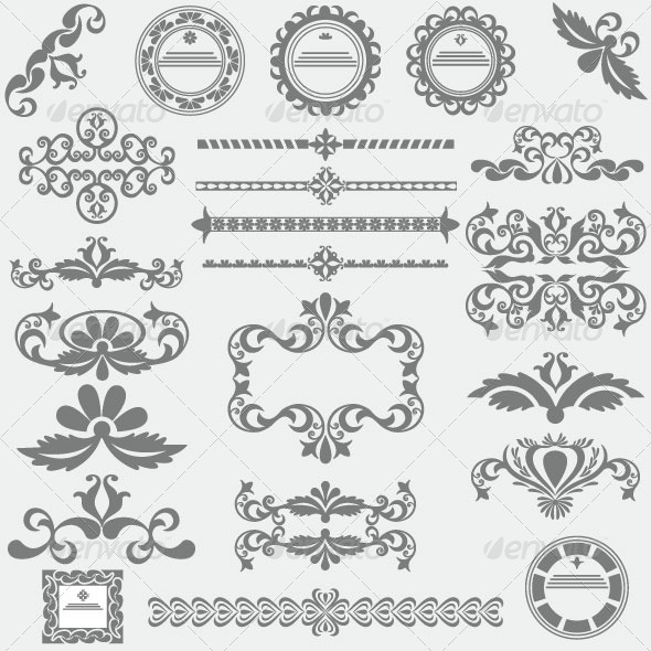 Vintage Design Elements 82 - Decorative Vectors