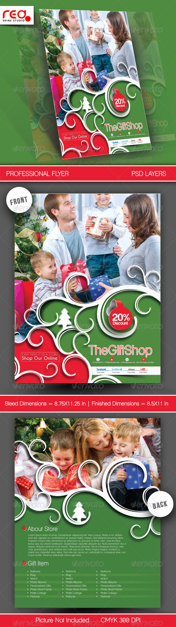 Gift Shop Flyer Poster Template - 1  - Clubs & Parties Events