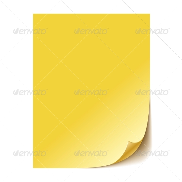 Empty Yellow Paper Sheet - Backgrounds Business