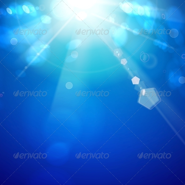 Sun Shine Rays with Bokeh - Nature Backgrounds