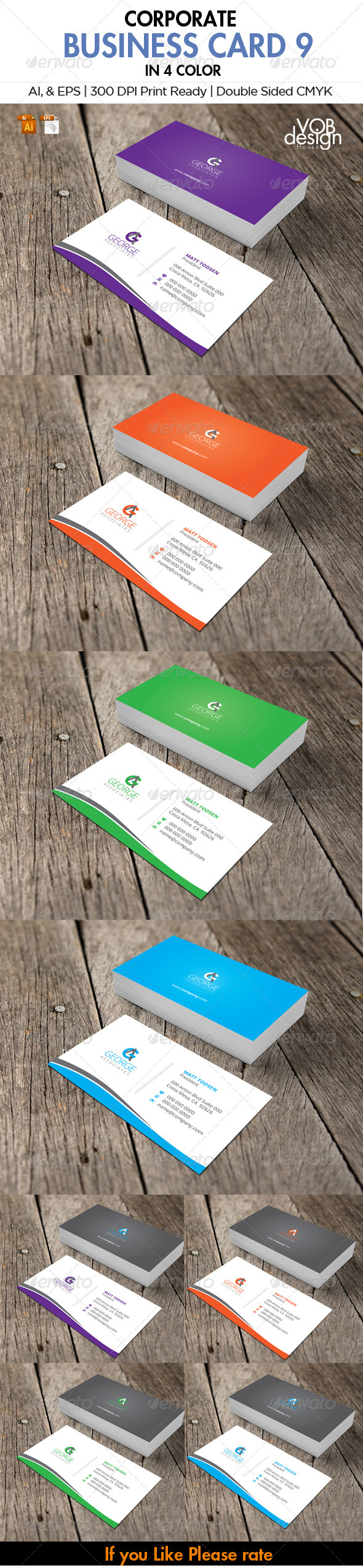 Corporate Business Card 9 - Business Cards Print Templates