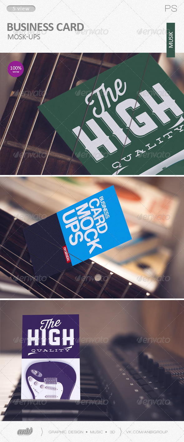 Business card Mock-Ups (musik) - Business Cards Print