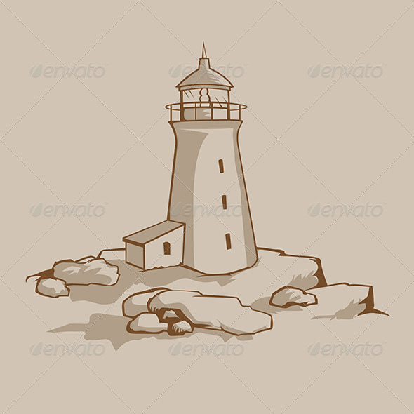 Rock Lighthouse - Buildings Objects