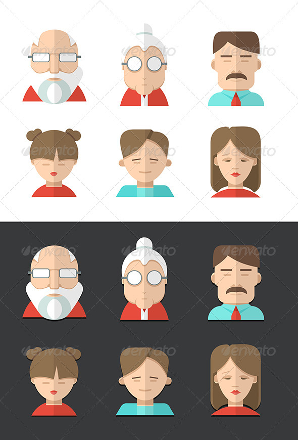 Family Icons - Characters Vectors