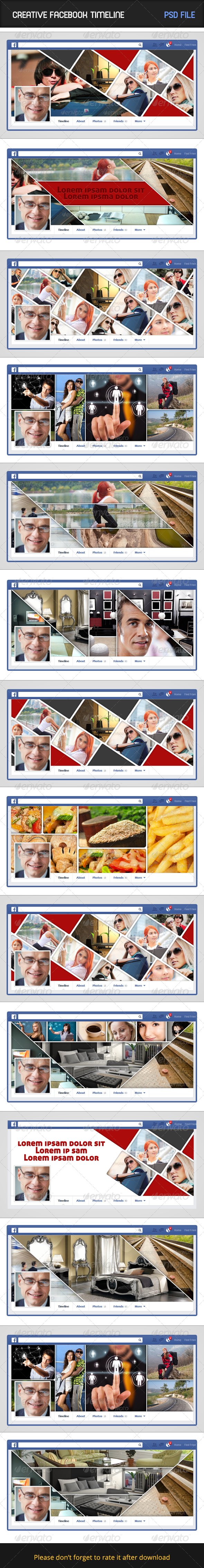 Creative Facebook Timeline - Facebook Timeline Covers Social Media
