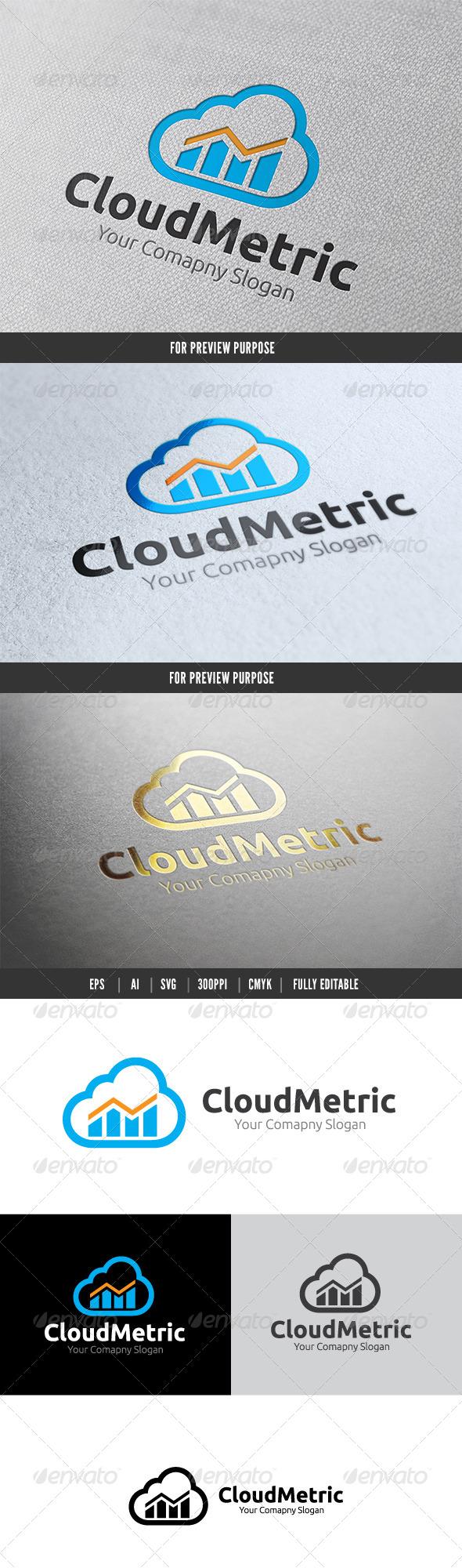 Cloud Metric Logo - Nature Logo Templates