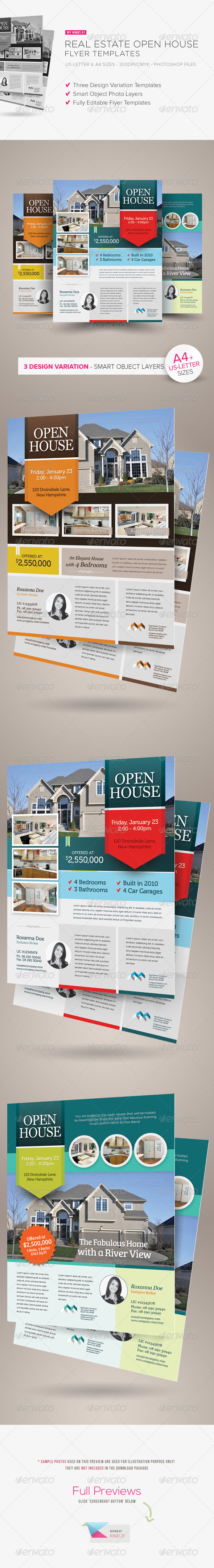 Real Estate Open House Flyers - Corporate Flyers