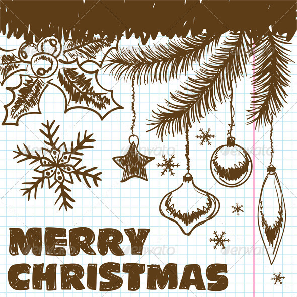 Christmas doodles - Christmas Seasons/Holidays