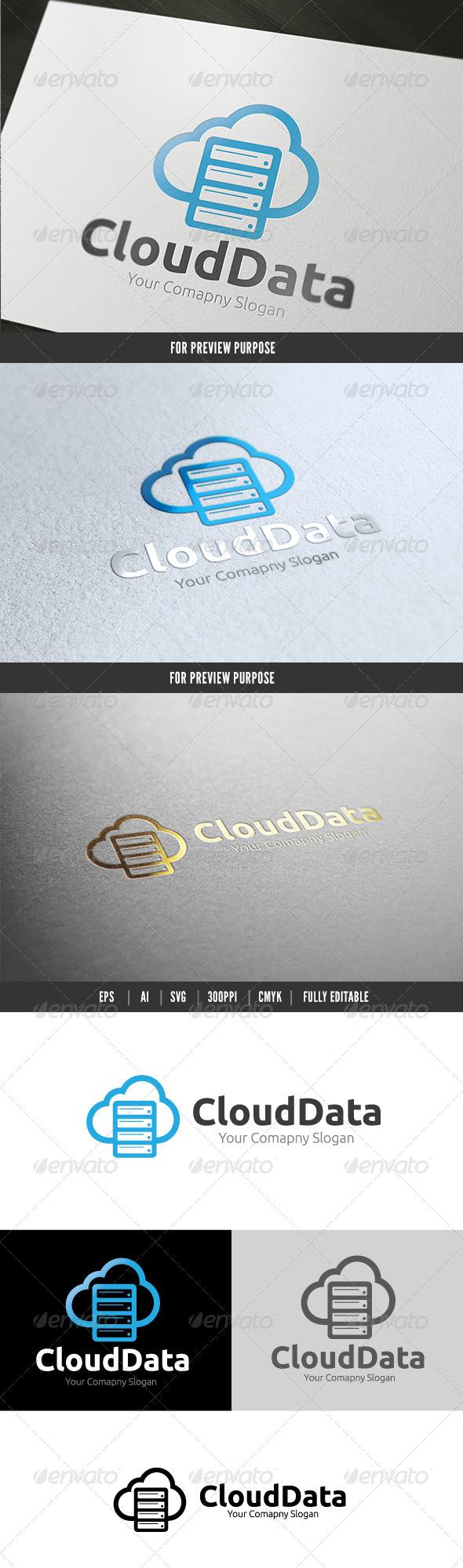 Cloud Data - Symbols Logo Templates