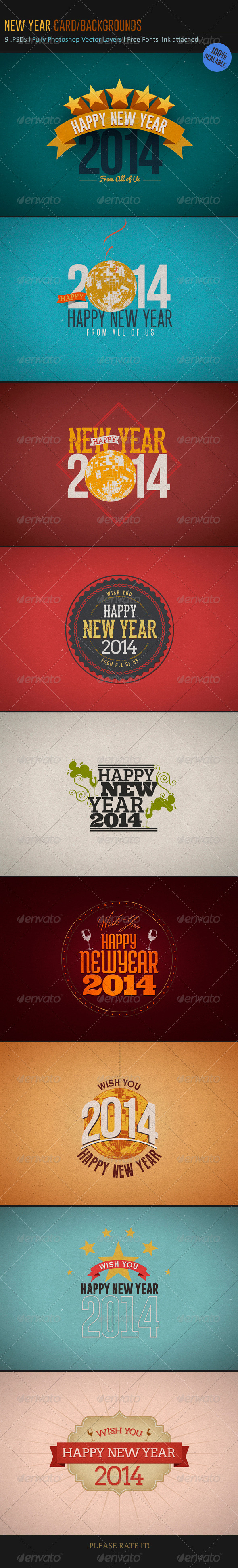 New Year Card-Backgrounds - Backgrounds Graphics